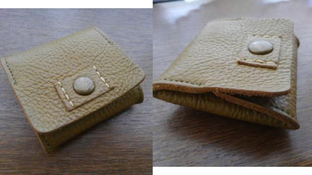 小銭入れ「ラブハンズ どんぐりレザーの折りたたみコインケース」 使いやすい