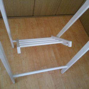 折りたたみ式・木製ハンガーラック【不二貿易】折りたたみ方