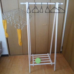 折りたたみ式・木製ハンガーラック【不二貿易】用途:洗濯物干しとして(部屋干し用)