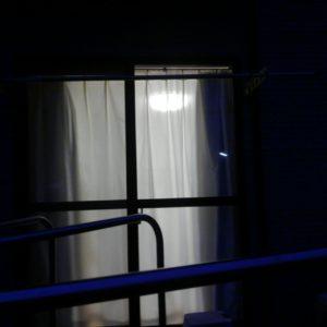 夜もほとんど外から見えないカーテン