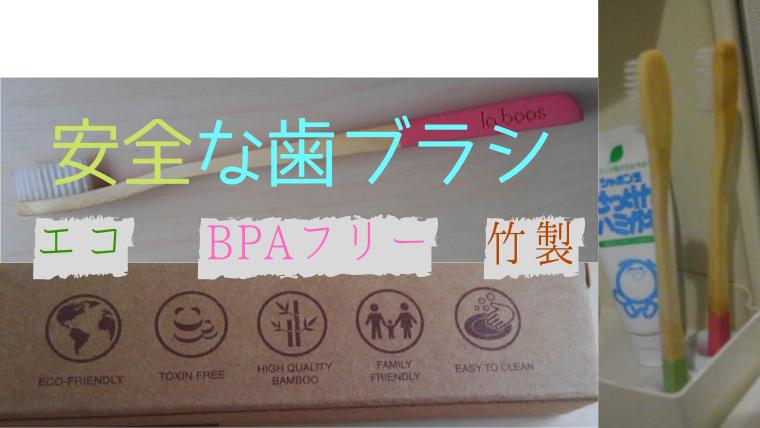 安全な竹の歯ブラシ【LABOOS】BPAフリー/歯茎のマッサージ効果も